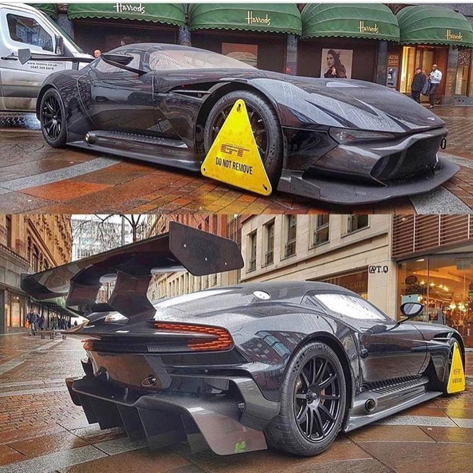 Aston Martin Vulcan Clamped Outside Harrods Is Grand Tour Marketing Autoevolution