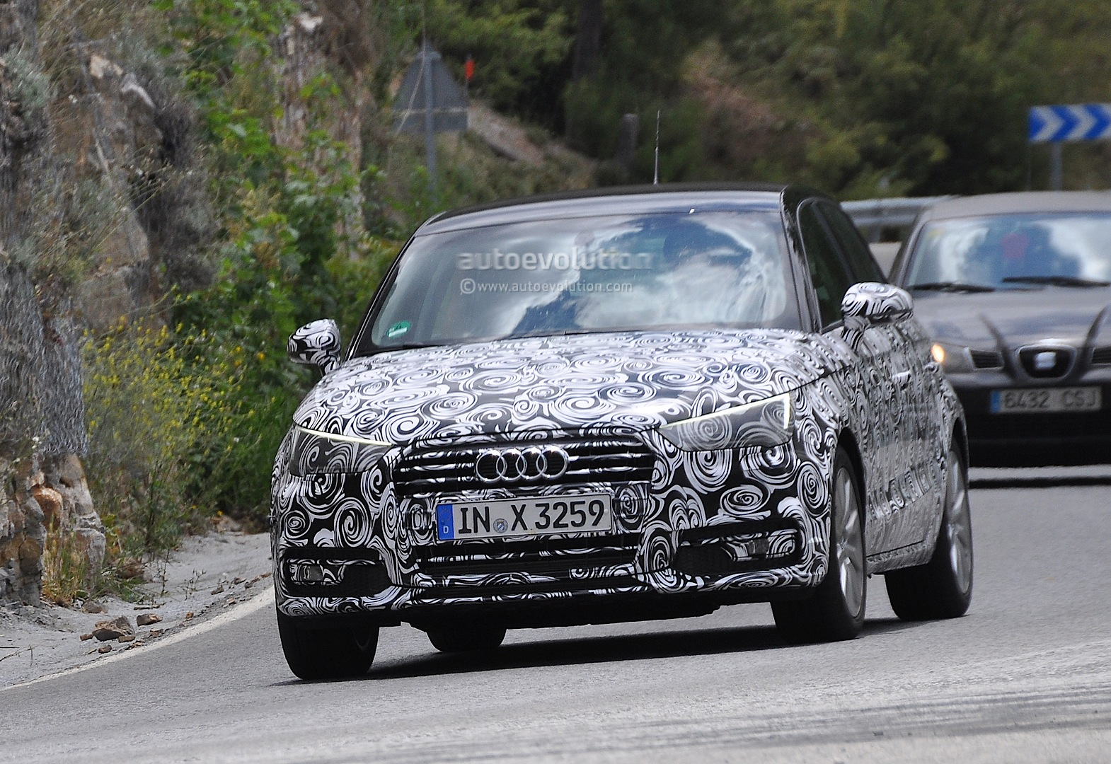 audi a1 facelift spied again should be revealed soon