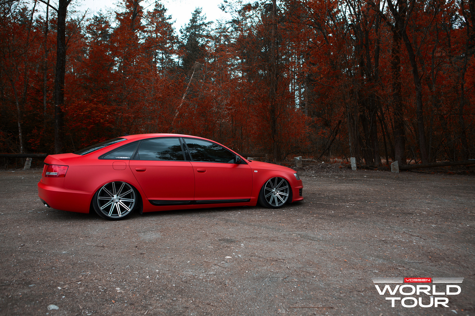 Audi A6 C6 Is A Red Rooster On Vossen Rims Autoevolution