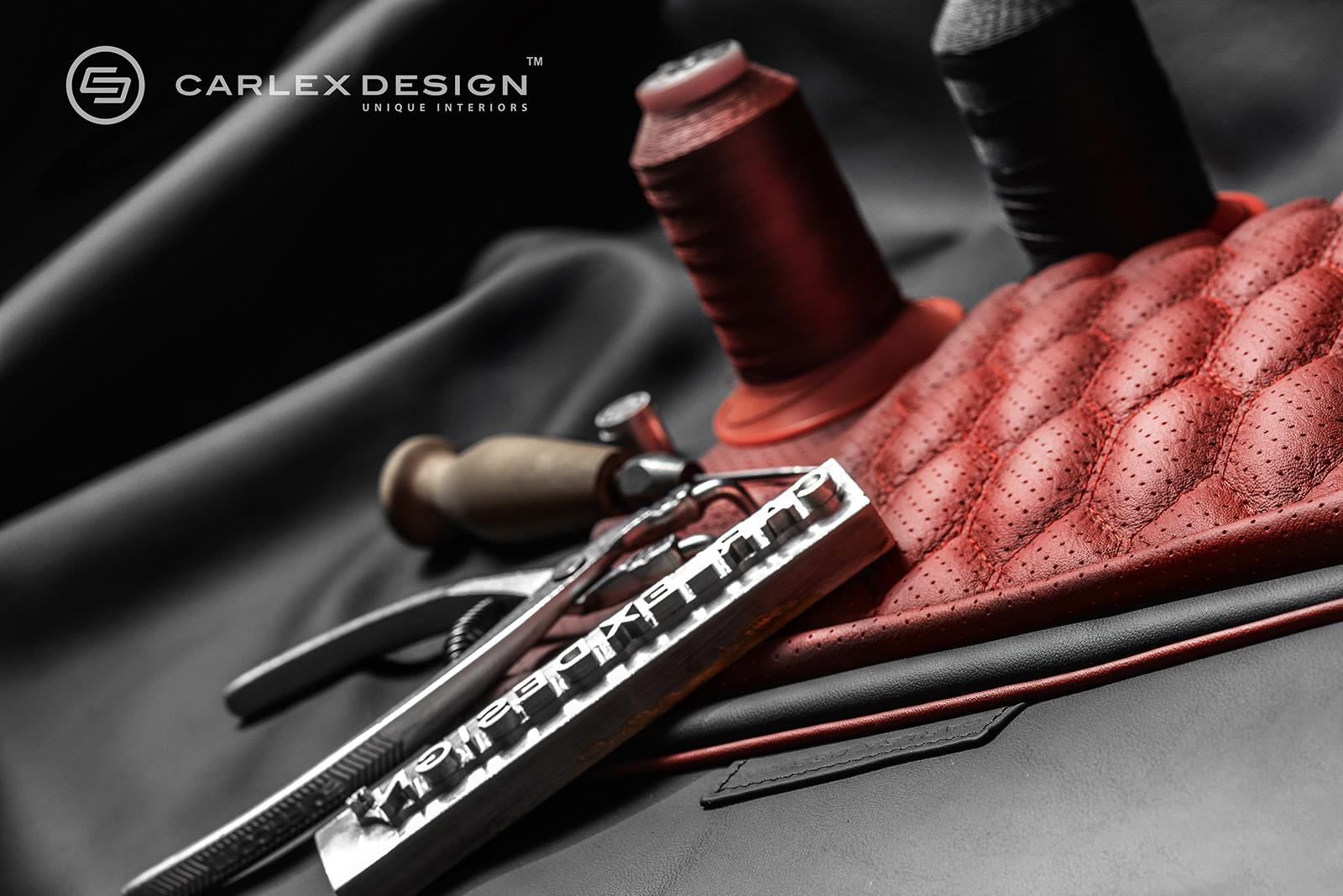 Mercedes v class gets full treatment from carlex design - Audi A6 Gets Red Honeycomb Interior From Carlex Design