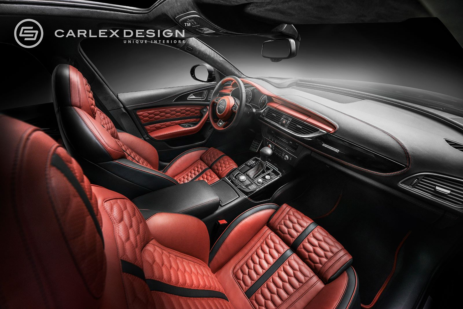 ... Audi A6 Gets Red Honeycomb Interior From Carlex Design ...