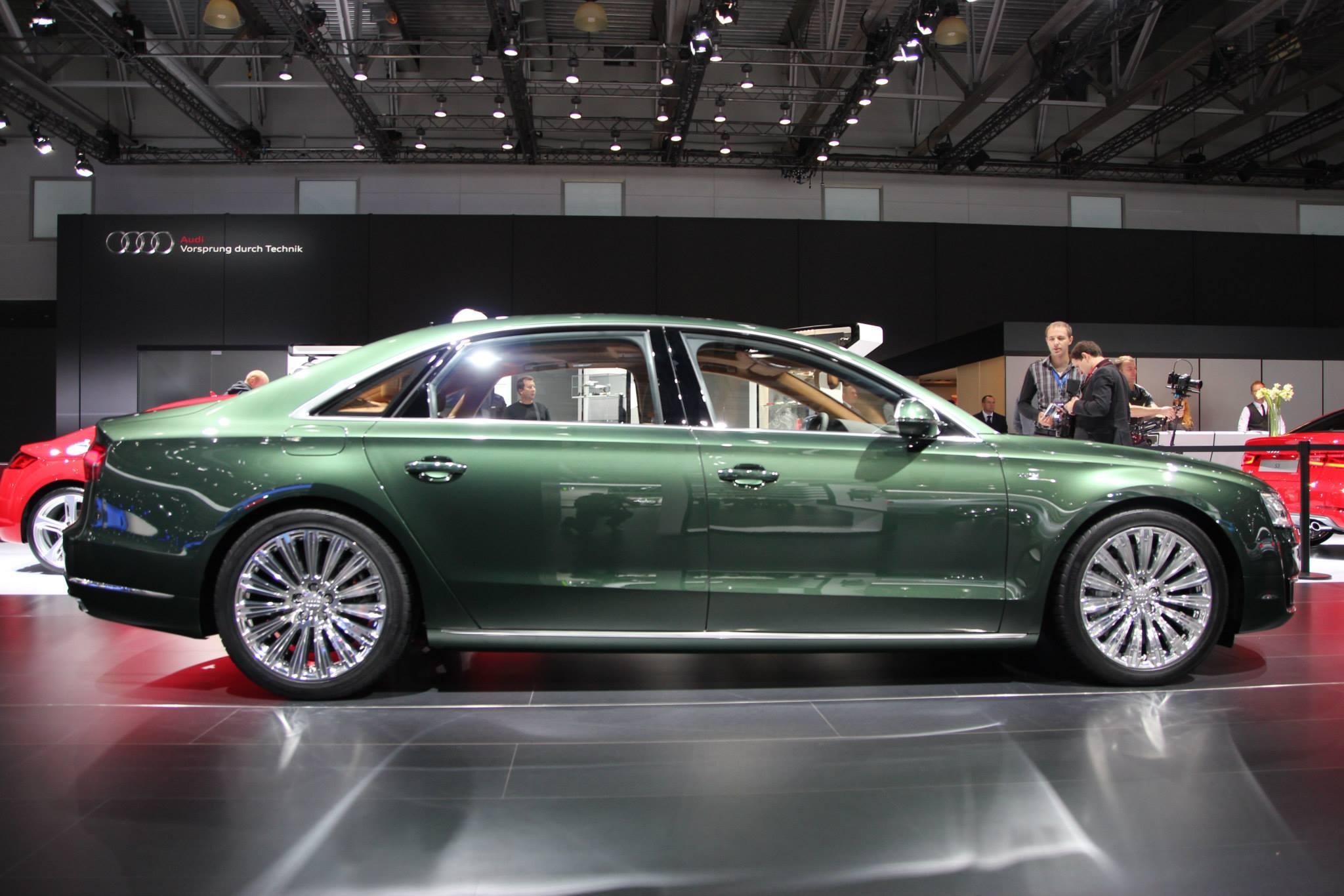Audi A8l W12 In Verdant Green Pearl Has Jaguar Looks