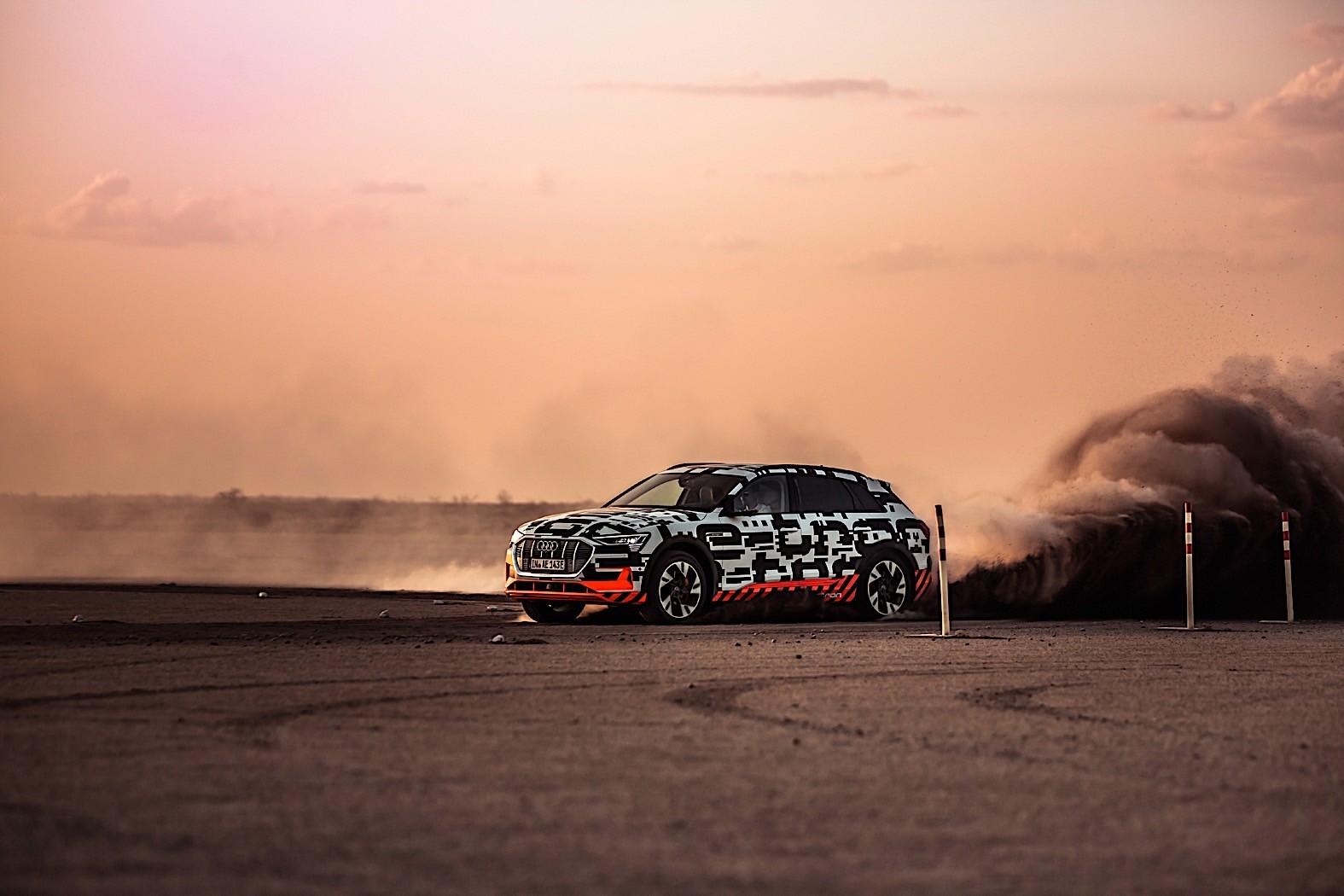 Audi e-tron Prototype Drifting in the Kalahari Desert in ...