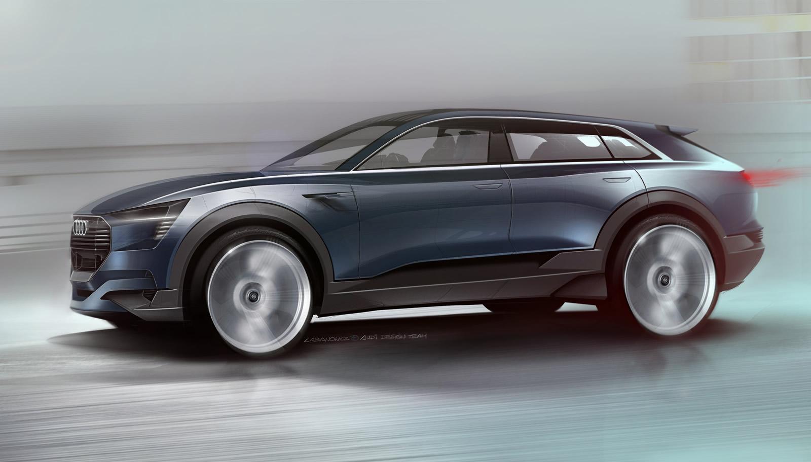 audi e tron quattro concept teaser shows future q6 electric suv for the first time autoevolution. Black Bedroom Furniture Sets. Home Design Ideas