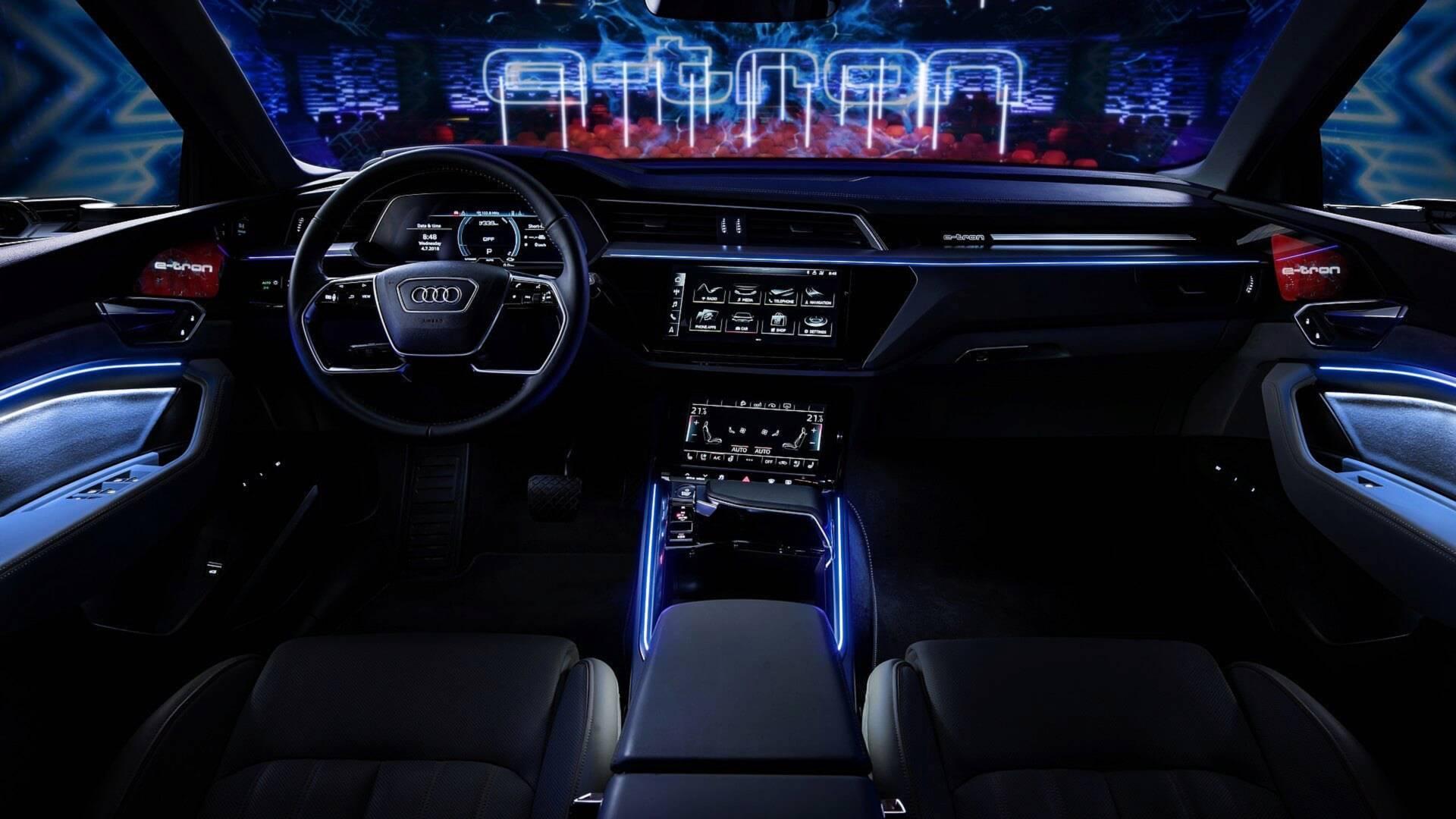 2019 Audi e-tron Electric SUV Shows Interior Design in ...