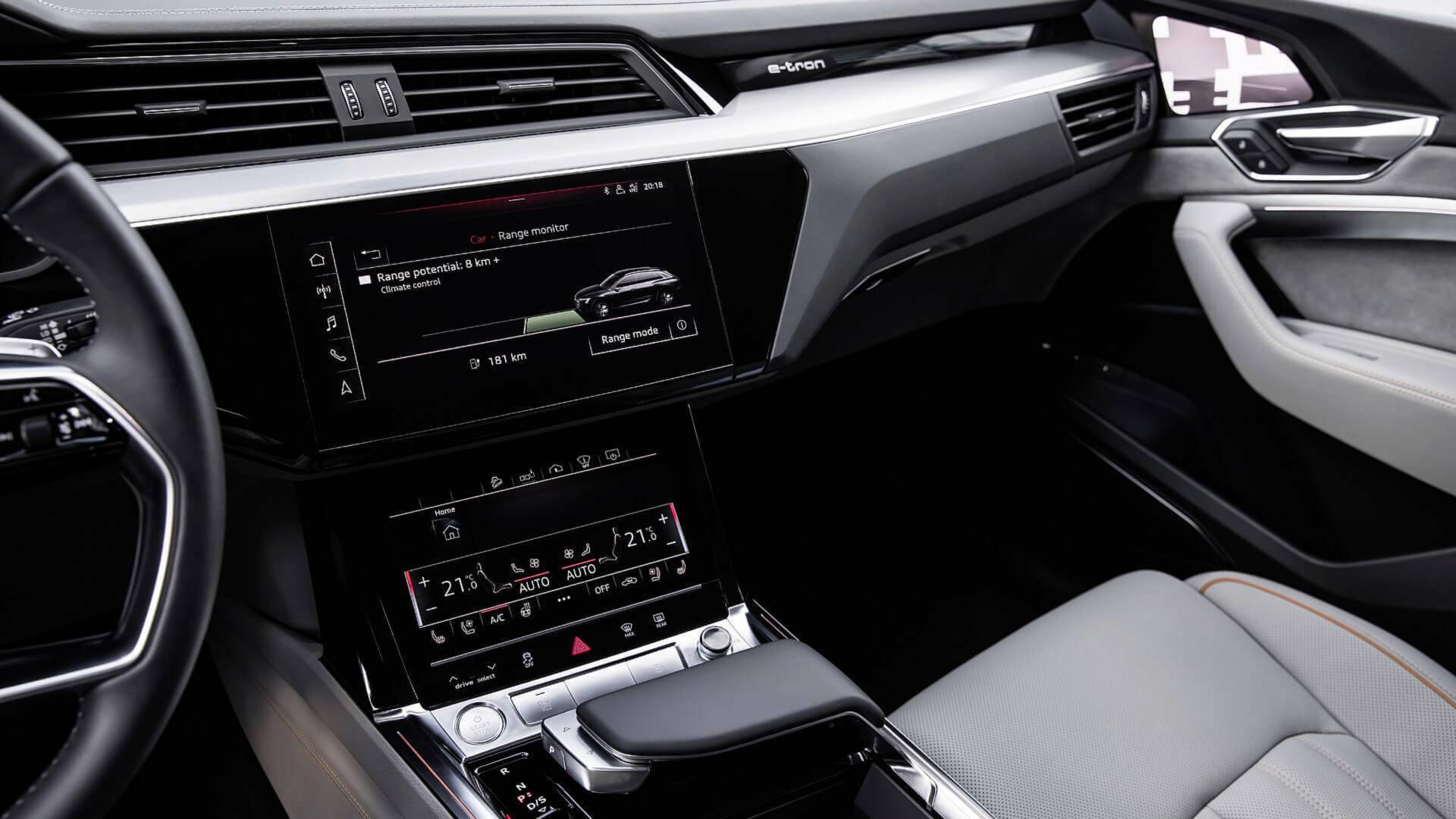 2019 Audi E Tron Electric Suv Shows Interior Design In