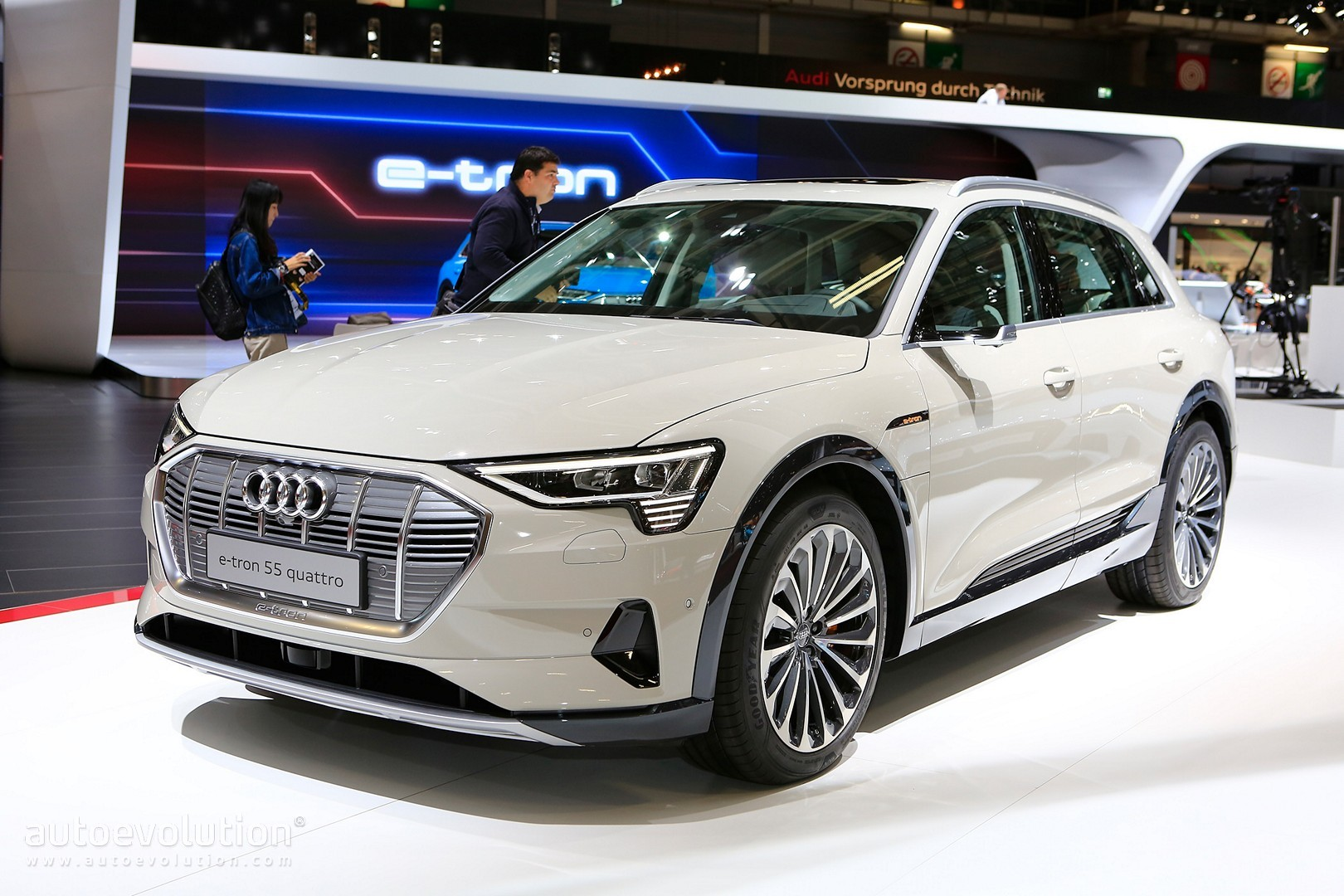 Audi E Tron Suv Shows Eqc Beating Frunk Rearview Cameras