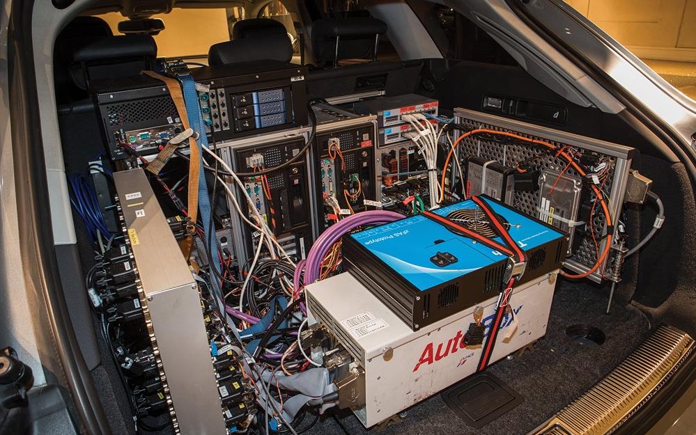 Компьютер автопилота Ауди в багажнике A7 Sportback