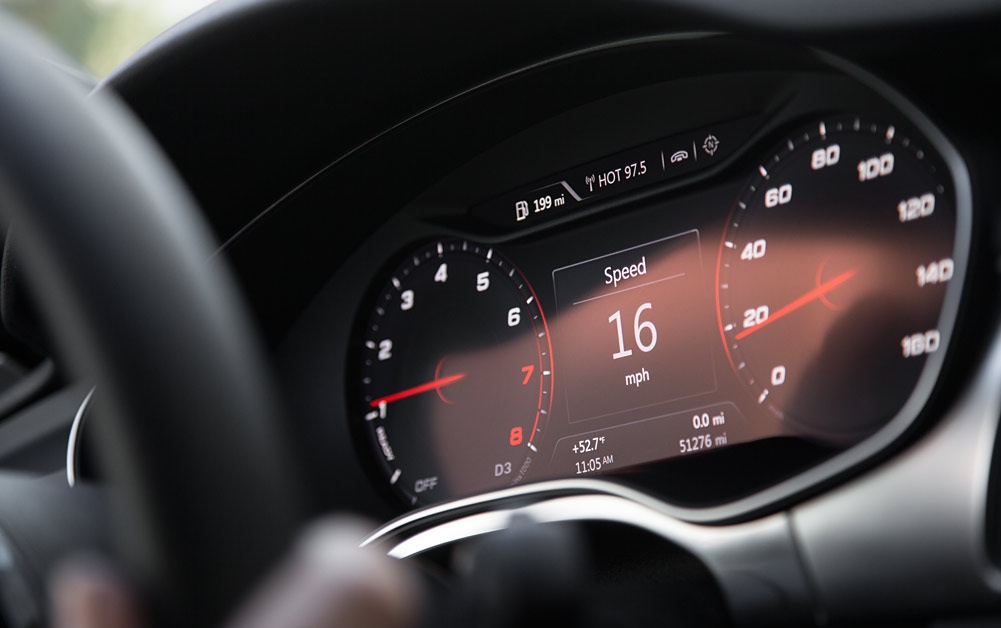 Цифровая приборная панель Audi A7 Sportback с автопилотом