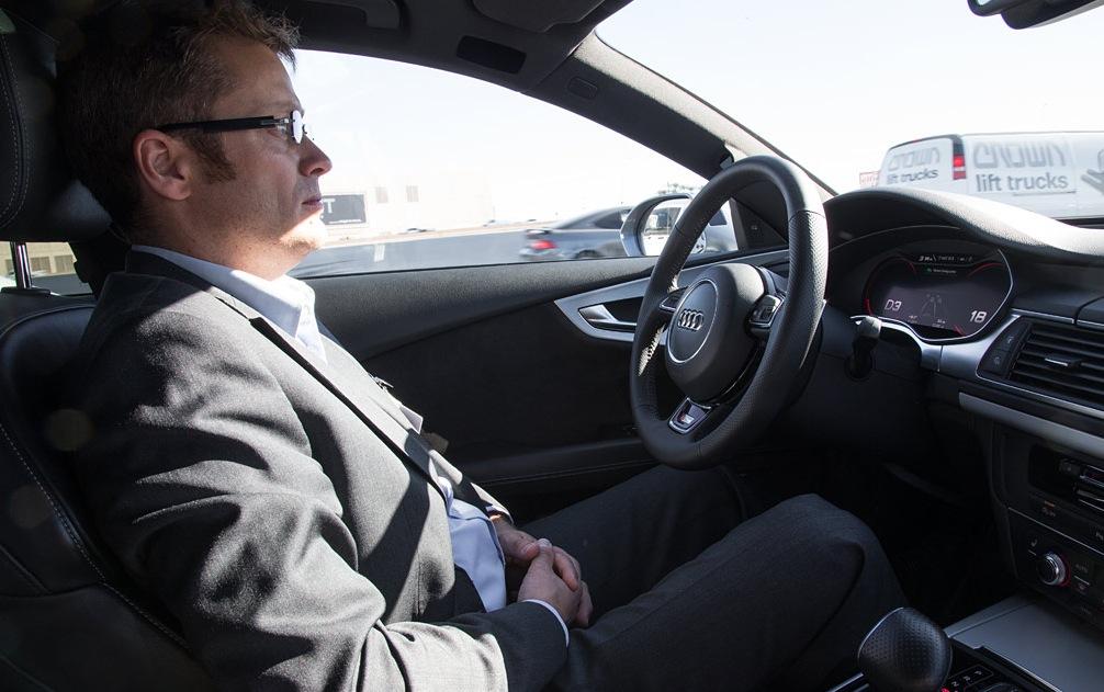 Езда с автопилотом Audi A7 Sportback