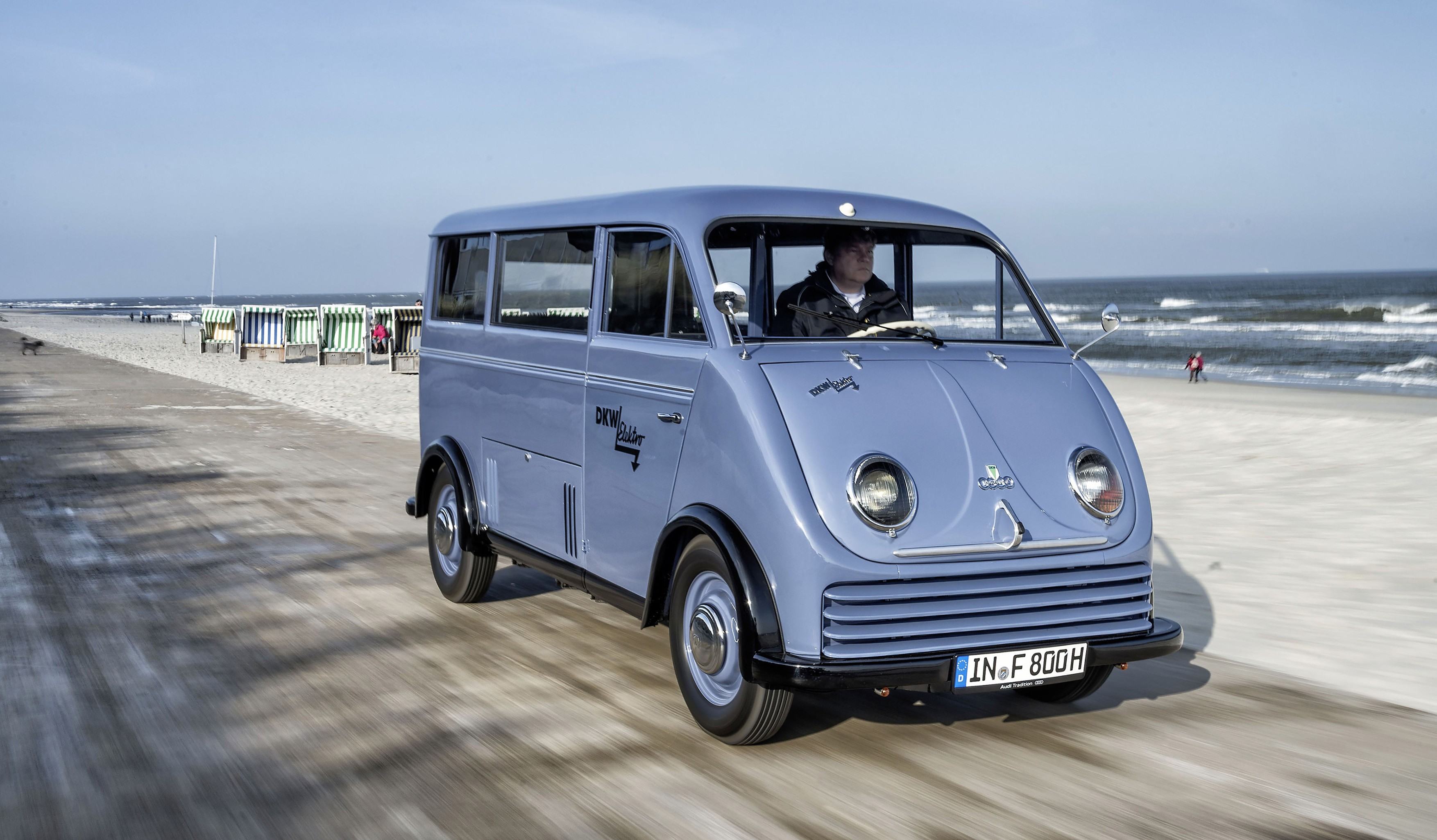 Audi Fully Restores 1956 Dkw Electric Schnellaster Van 91341 on 1 5 hp electric motor
