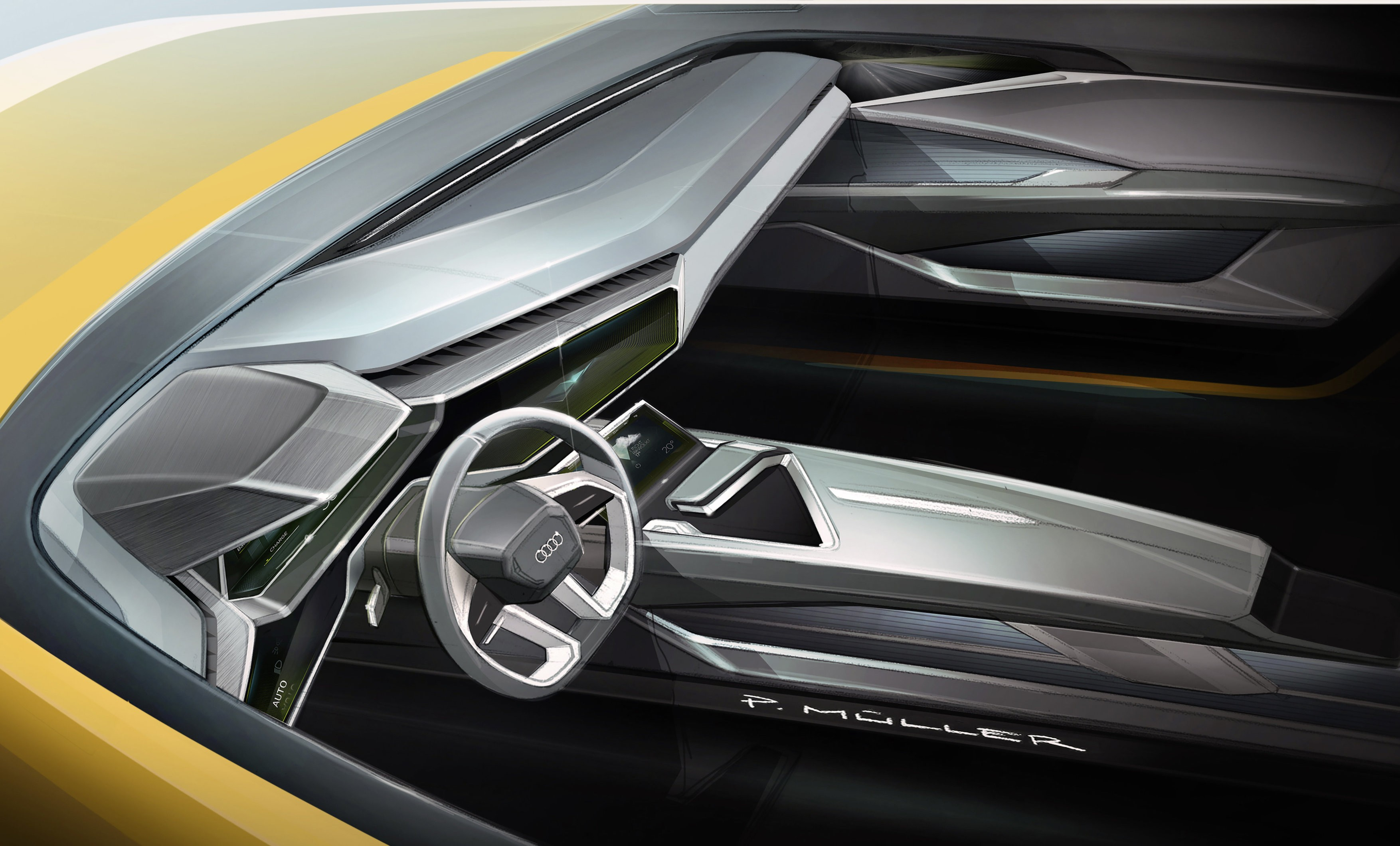 Audi H-Tron Quattro Concept Brings Yellow in Detroit ...