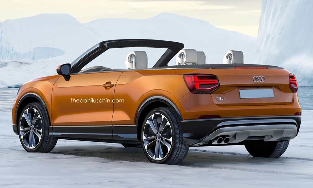 Audi Q2 Cabriolet Rendering Looks Strange Yet It Might Happen - autoevolution
