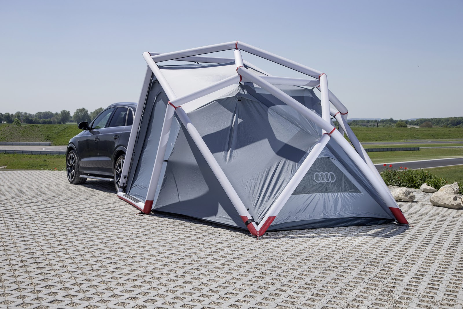 Audi Q3 Shows Its Outdoorsy Side With Camping Tent At