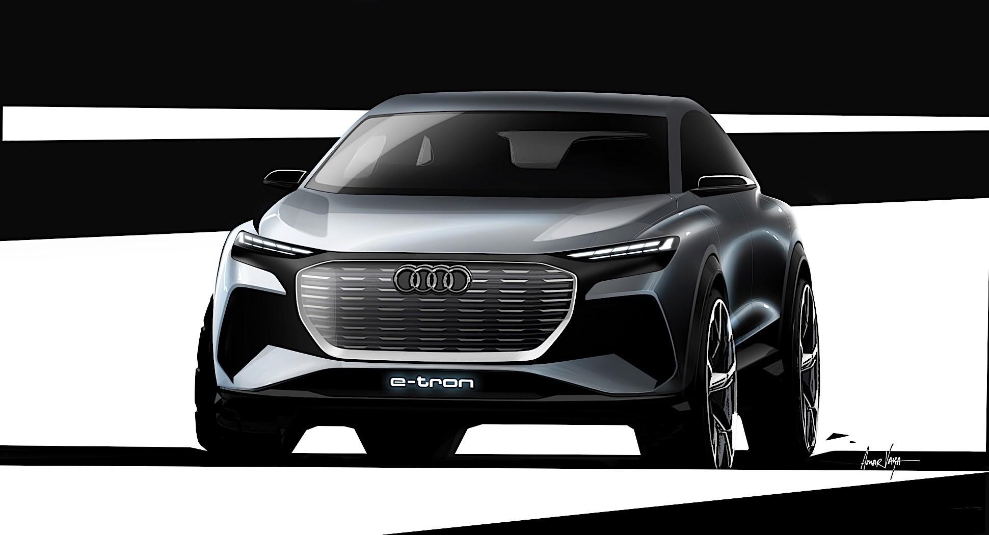 audi q4 etron concept previews 2021 production electric