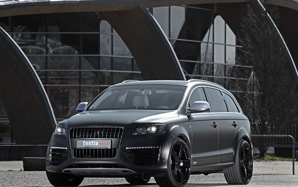 Audi Q7 V12 TDI with 600 HP: Matte Black Wrap by Fostla ...