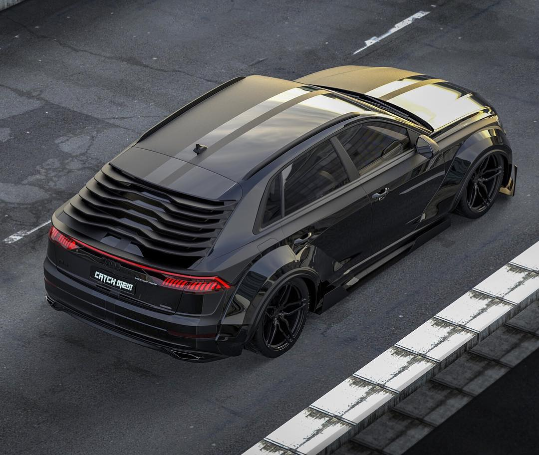 Audi Q8 Slammed In Virtual Tuning, Looks Like A Racing SUV