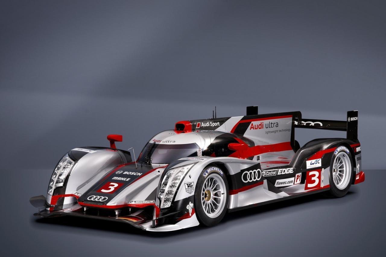 Audi R18 E Tron Quattro Hybrid Race Car Unveiled Photos