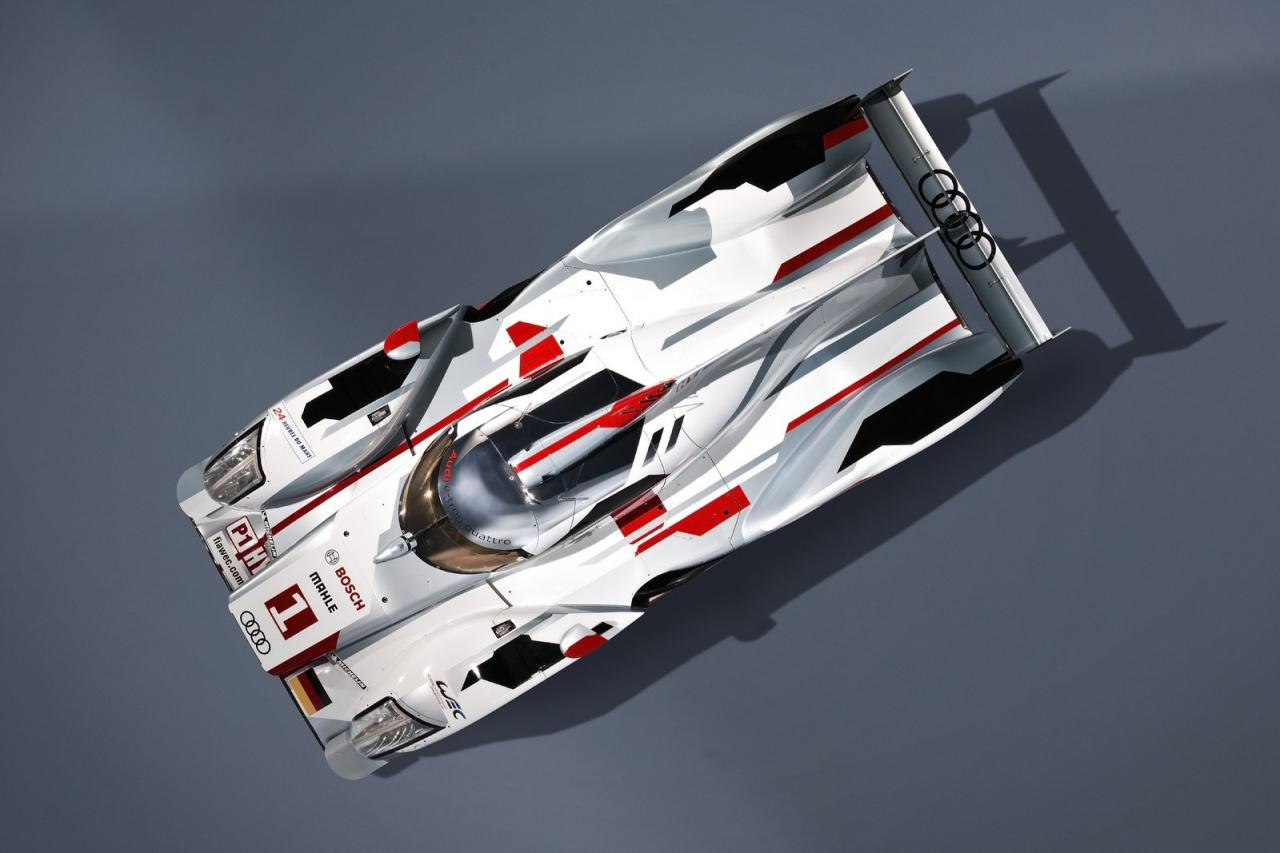 audi r18 etron quattro hybrid race car unveiled photos