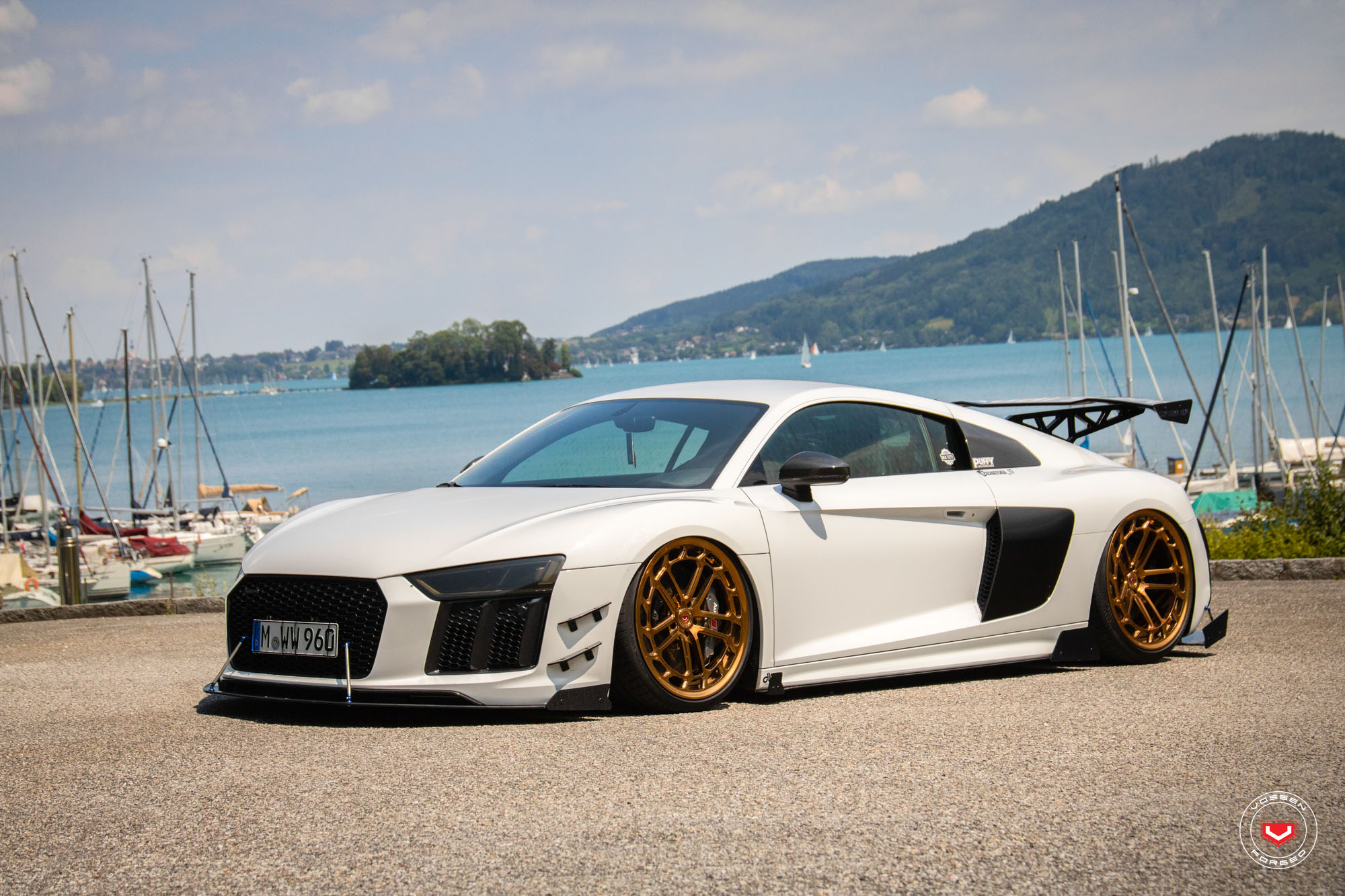 Audi Gold Sports Cars Supercars Gallery