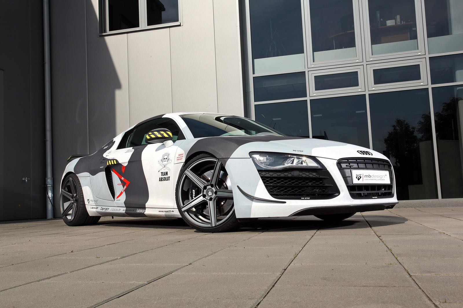 Audi R8 Receives Arctic Camo Wrap And Mods From Mbdesign