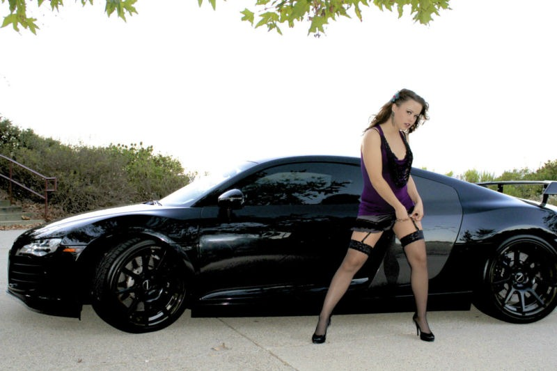 Audi R8 Selling On Ebay With Girl On Door Autoevolution