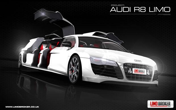 Audi R8 Stretch Limo Video Autoevolution