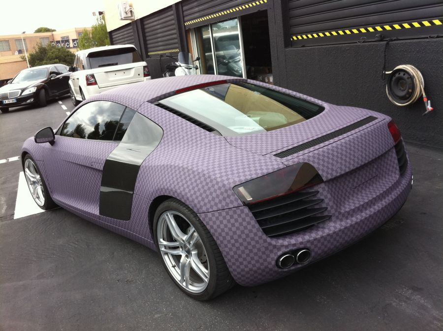 Audi R8 Turned To Purple Chess Board By Dartz Autoevolution