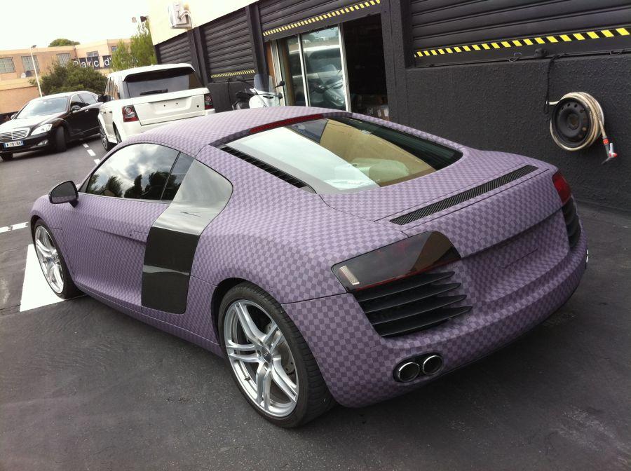 Audi R8 Turned To Purple Chess Board By Dartz Autoevolution