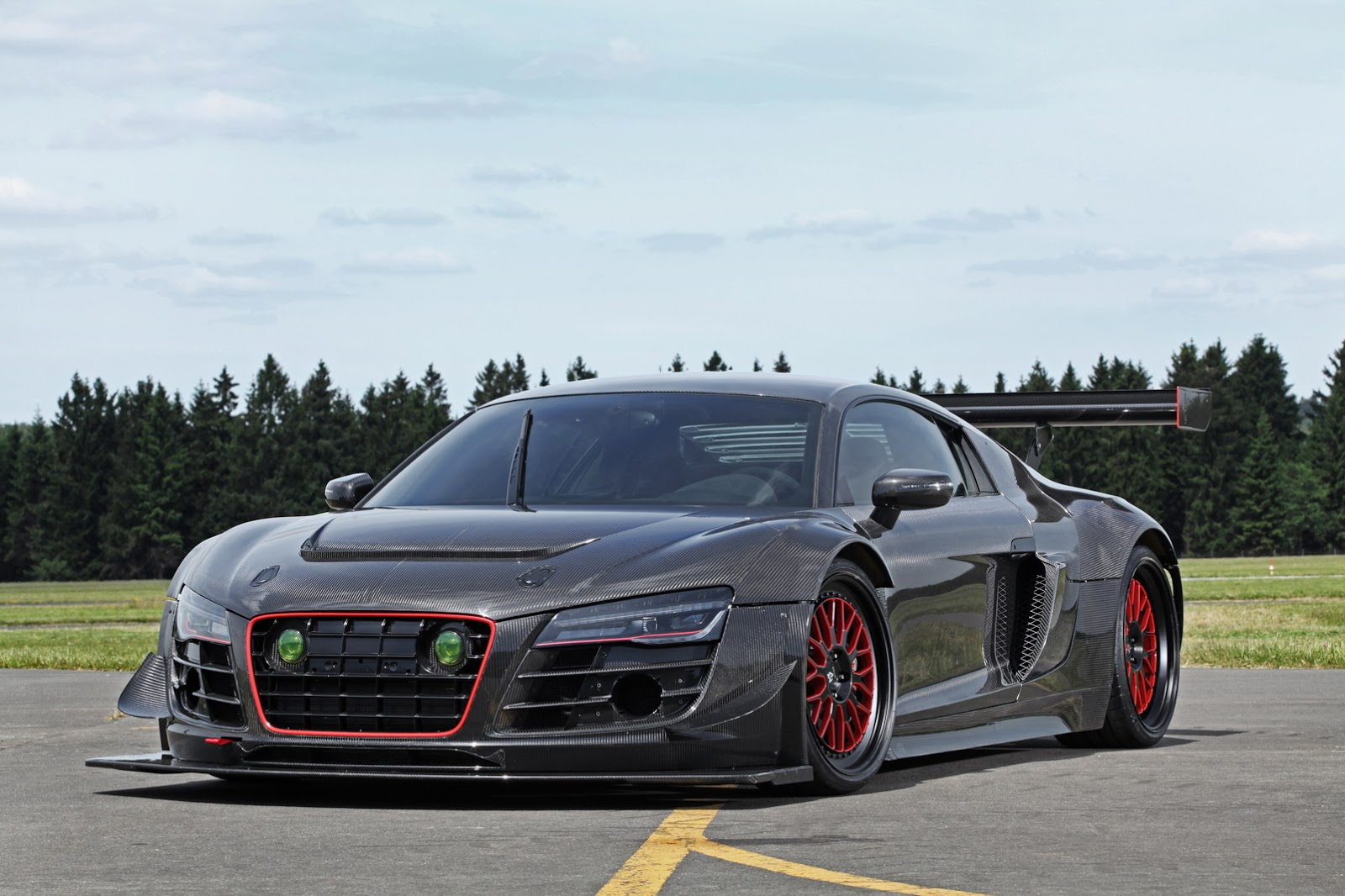 Audi R V Plus Gets A Hp Makeover Complete With Carbon Fiber Body Also Girl Photo Gallery