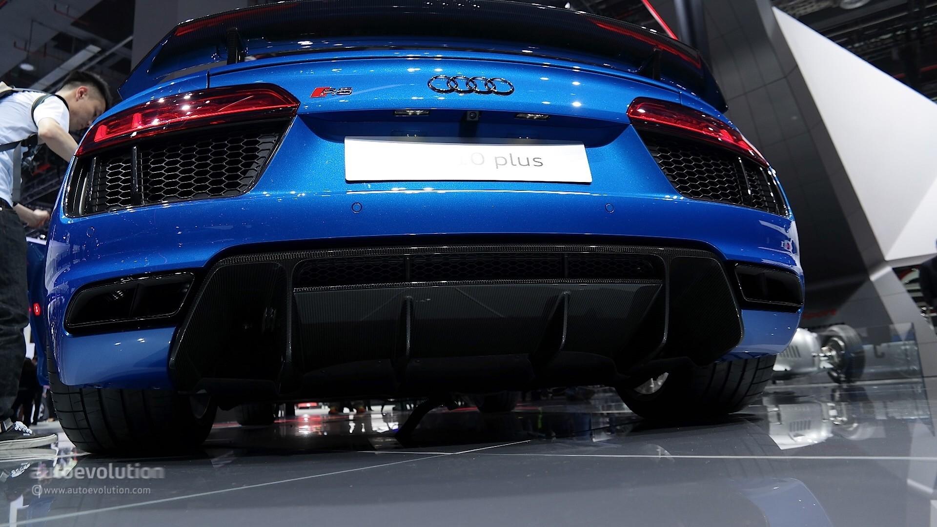 Audi R8 V10 Plus Leads Audis Power Play At Auto Shanghai