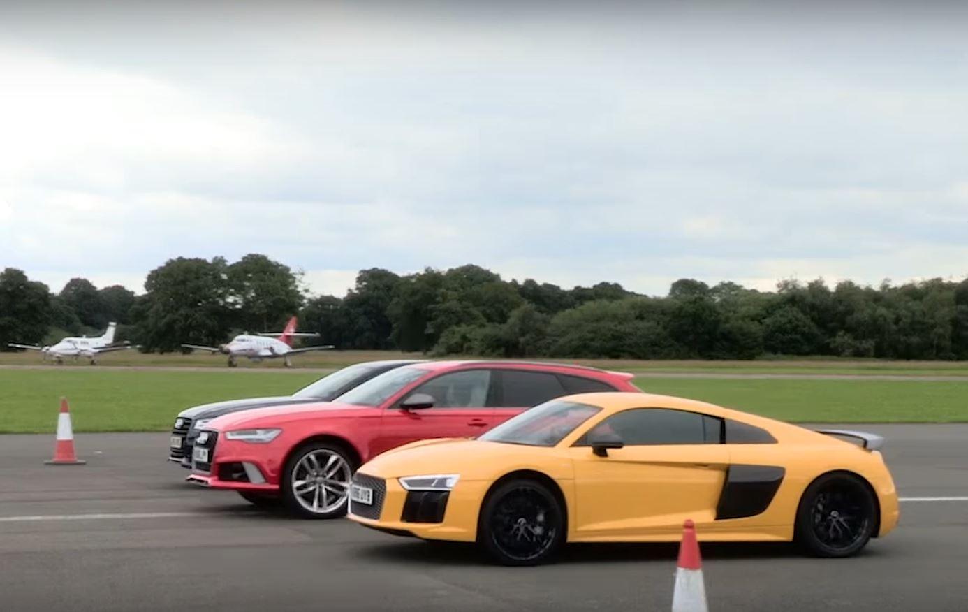 Audi R8 V10 Plus vs. RS6 vs. S8: The Lord of the Rings Drag Race - autoevolution