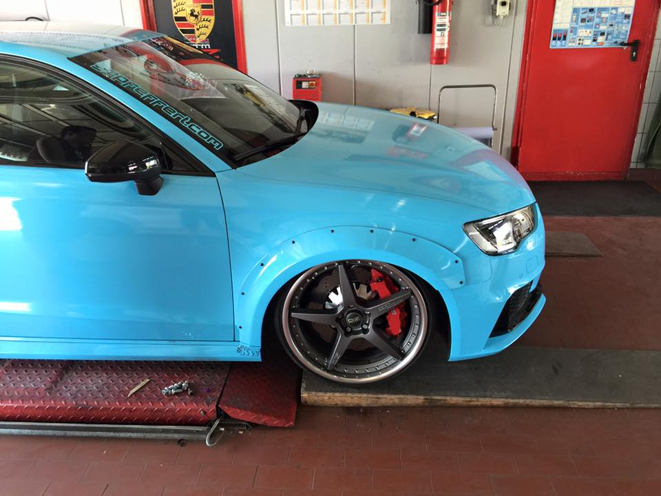 Audi Rs3 8v Tuning Wide Body Kit And Lowered Suspension
