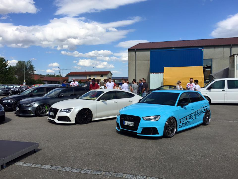Audi RS3 8V Tuning: Wide Body Kit and Lowered Suspension by Gepfeffert - autoevolution