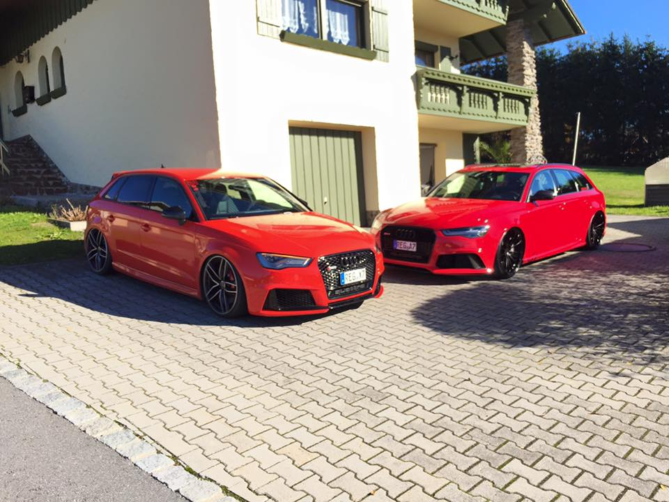 audi rs3 8v tuning wide body kit and lowered suspension. Black Bedroom Furniture Sets. Home Design Ideas