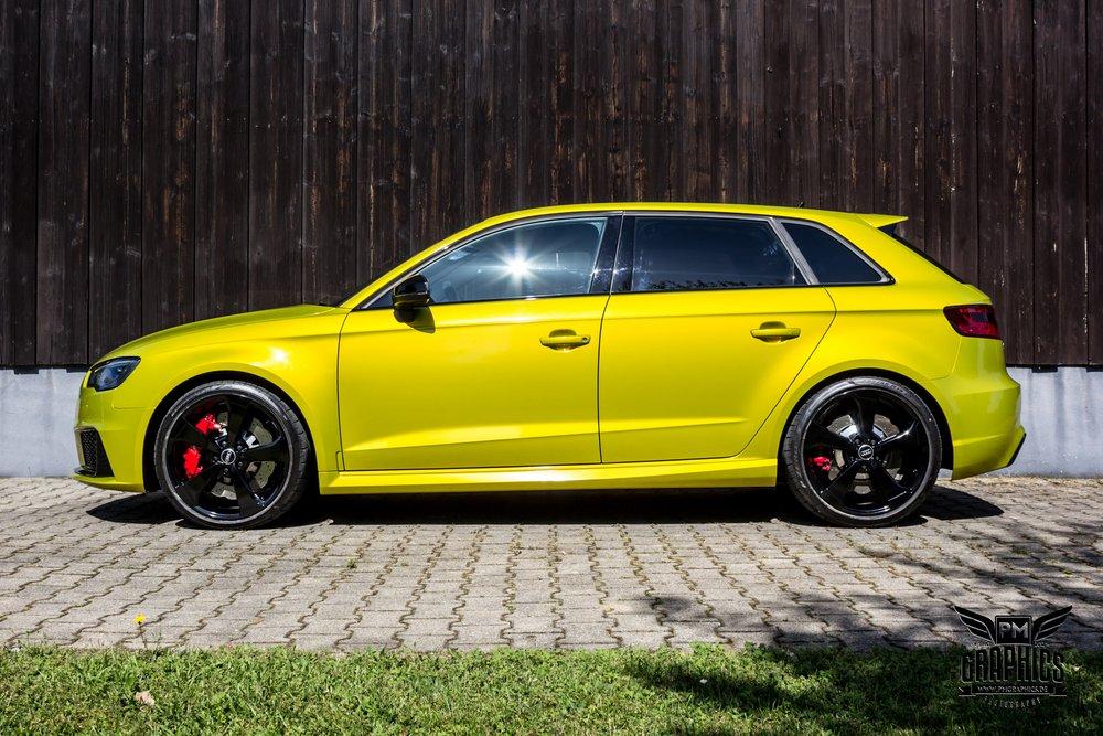 Audi RS3 Interior by Neidfaktor: Neon Yellow, Alcantara and Carbon - autoevolution