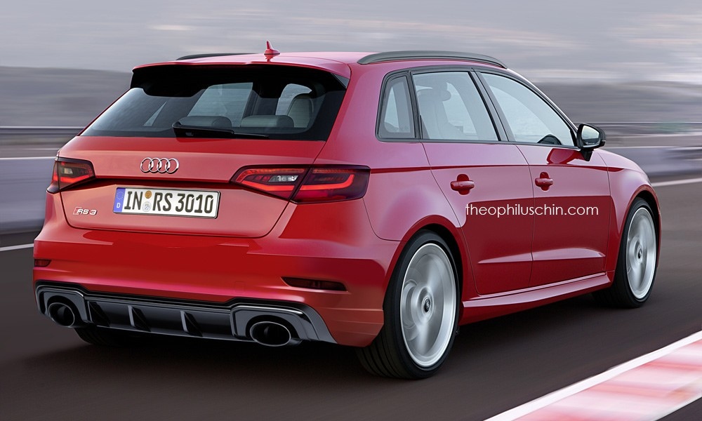 audi rs3 sportback facelift rendering should preview 2017. Black Bedroom Furniture Sets. Home Design Ideas