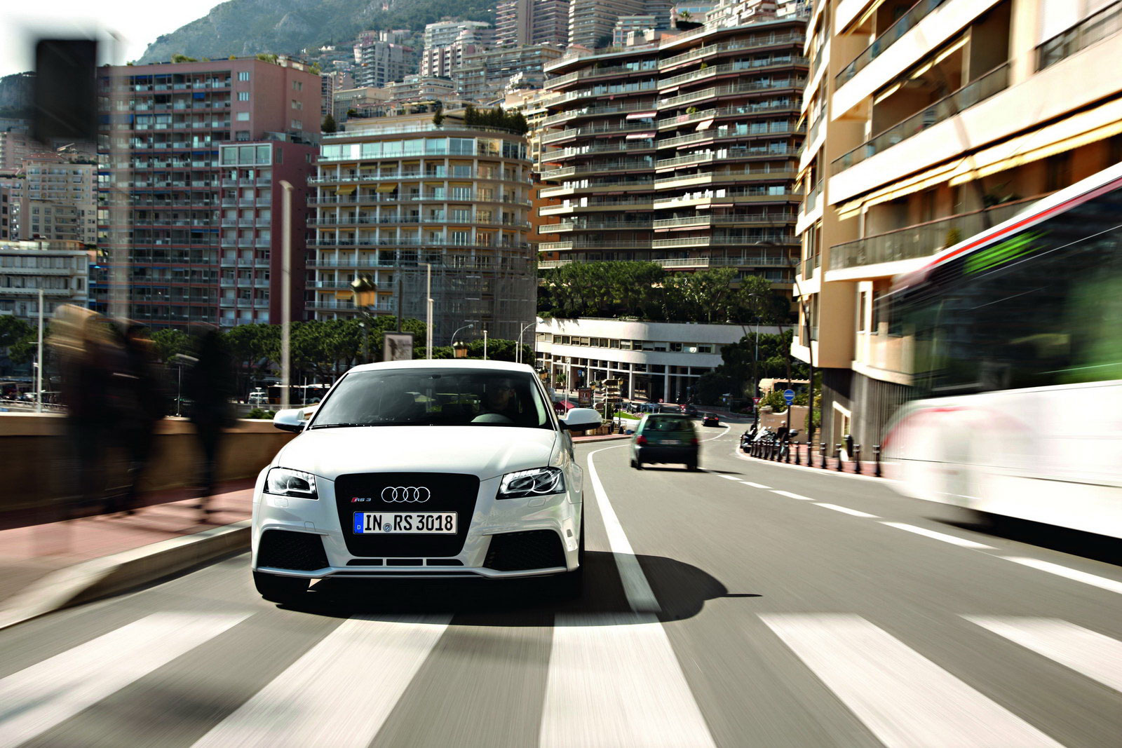 Audi RS3 Sportback Hits the Streets of Monaco - autoevolution