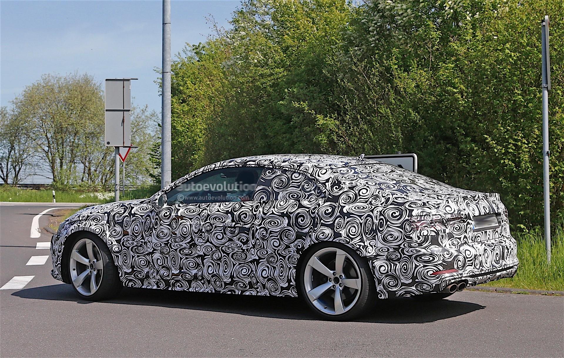 Audi Testing Rs5 Prototype With Full Camouflage Spyshots
