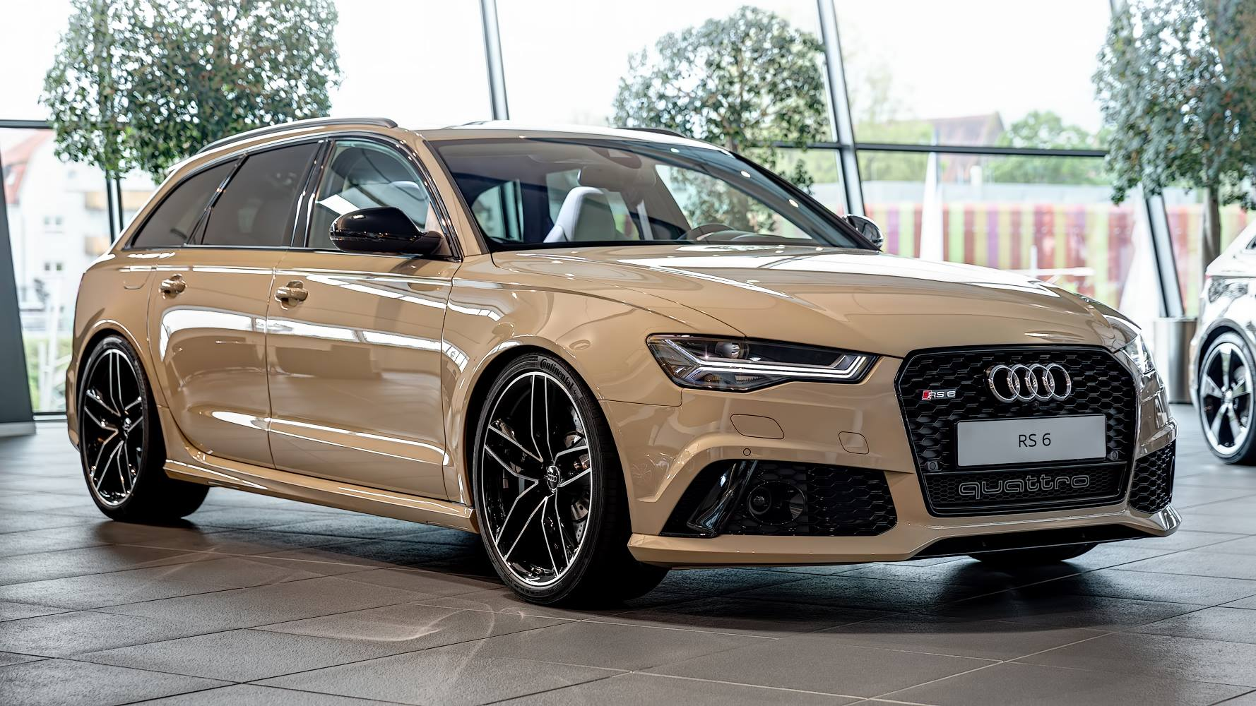 audi rs6 avant in mocha latte is the perfect weekend refreshment autoevolution. Black Bedroom Furniture Sets. Home Design Ideas
