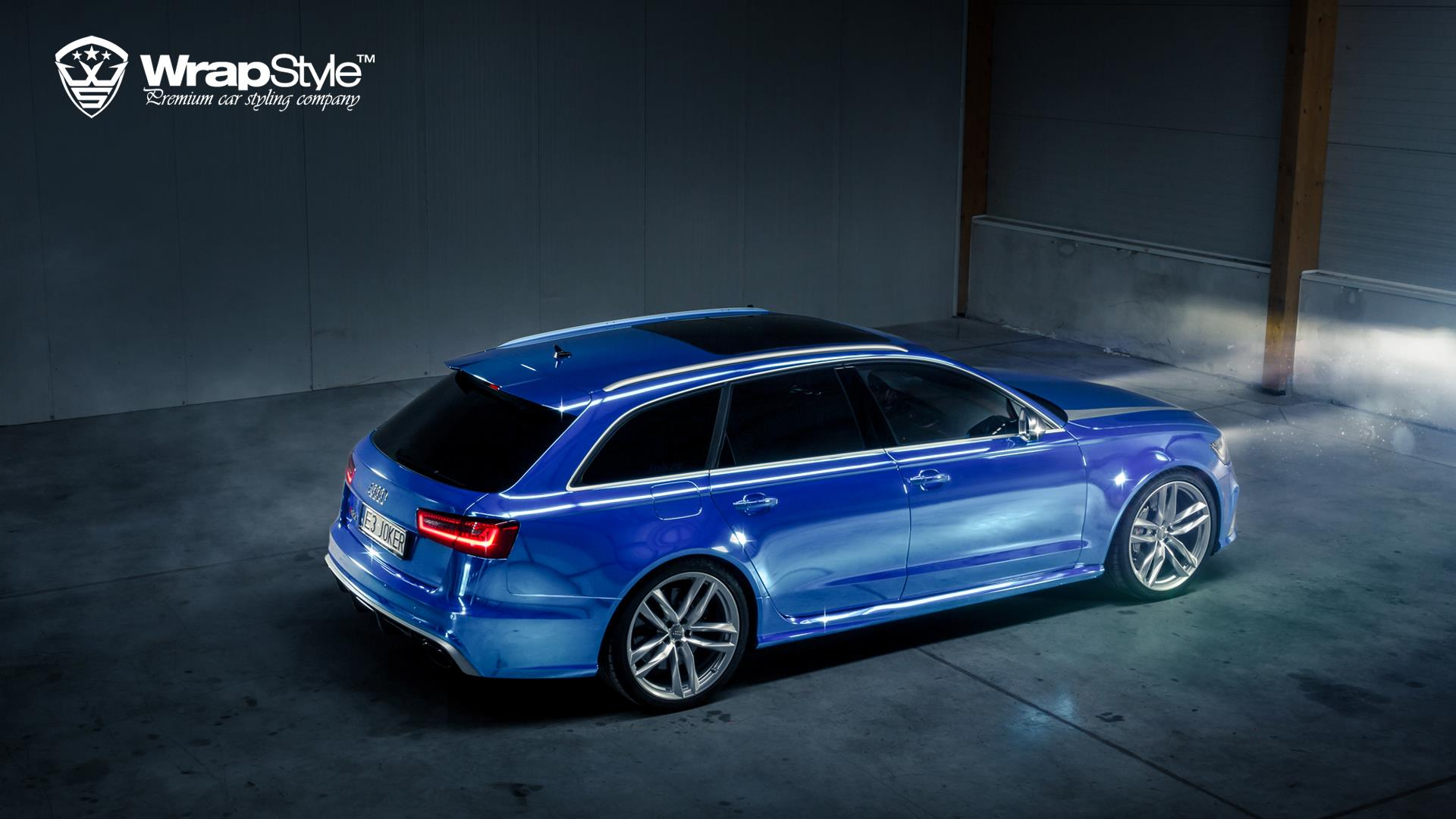 "Audi RS6 ""Joker"" Wrapped in Blue Chrome - autoevolution"