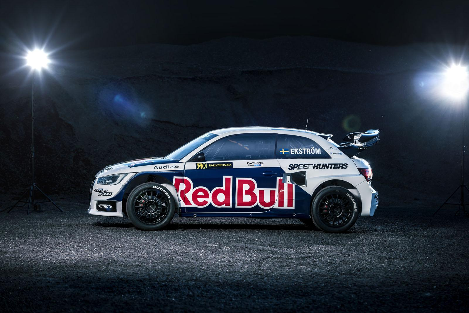 audi s1 ready to rallycross in red bull livery autoevolution. Black Bedroom Furniture Sets. Home Design Ideas