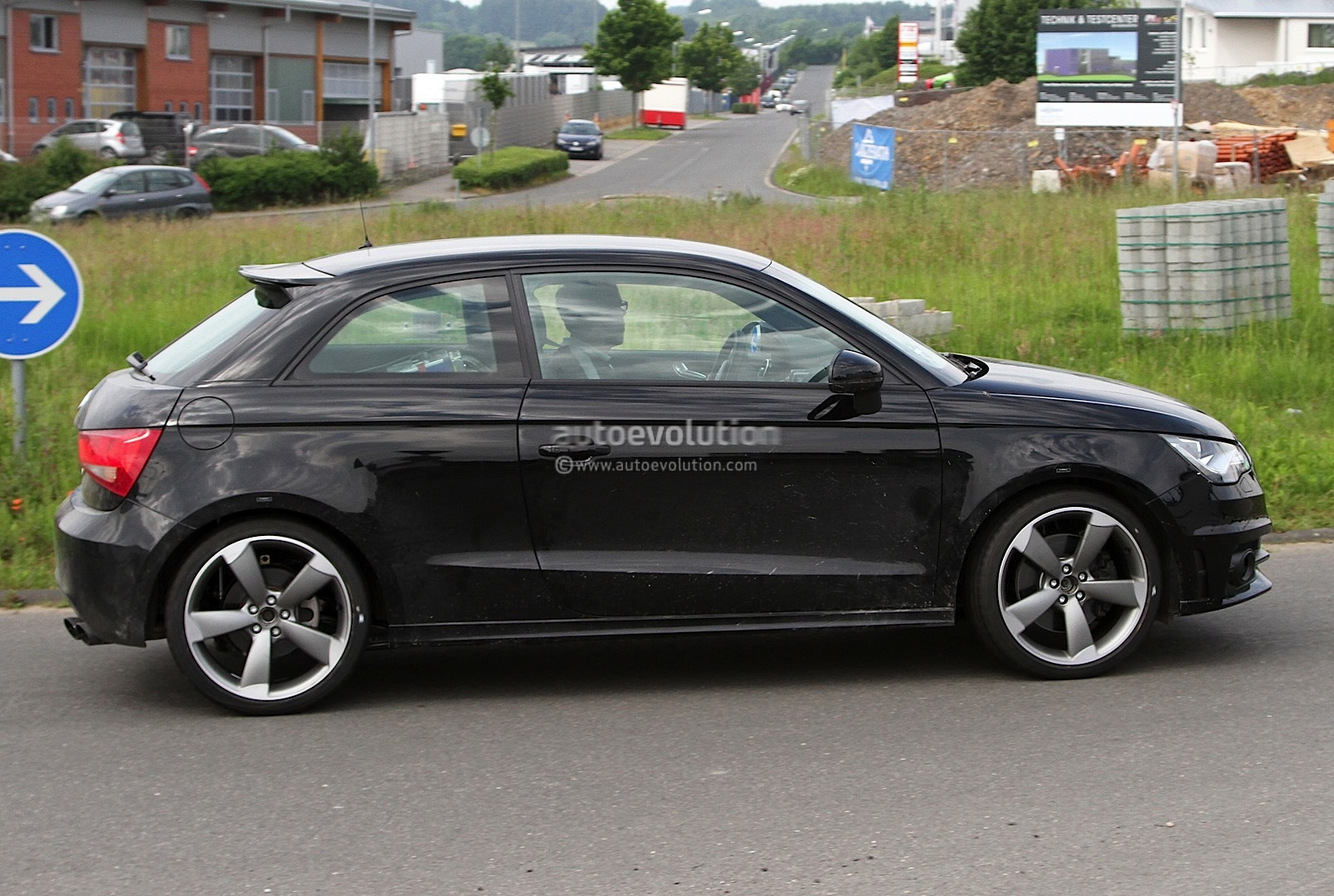 audi s1 spotted testing in latest spyshots autoevolution. Black Bedroom Furniture Sets. Home Design Ideas