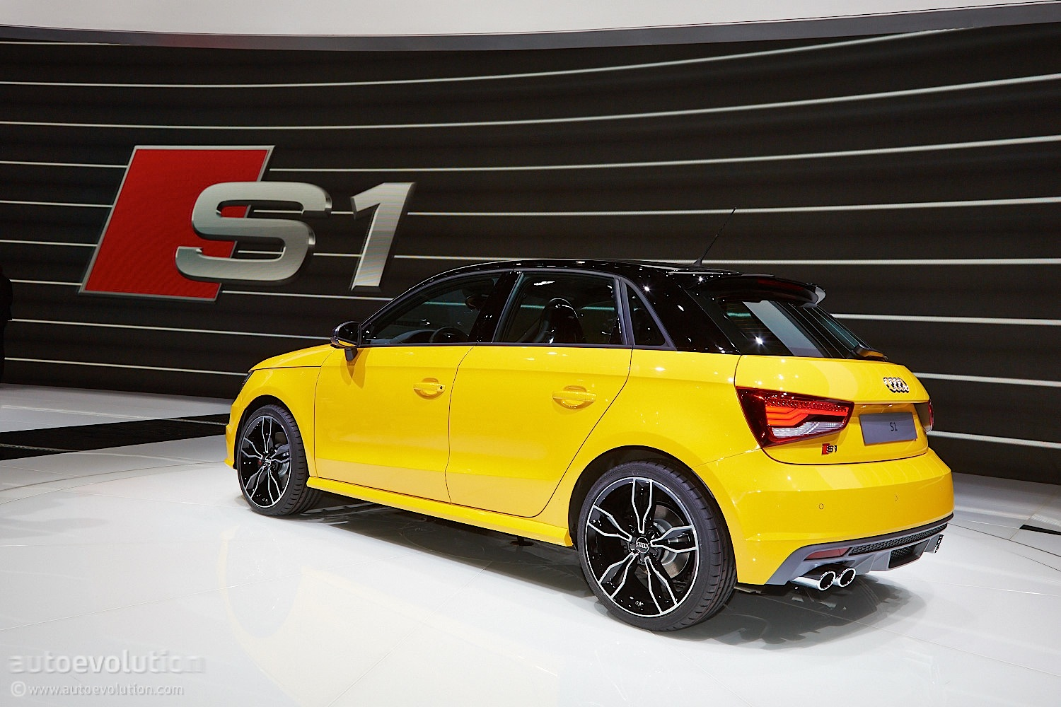 audi s1 wears vegas yellow for swiss debut live photos. Black Bedroom Furniture Sets. Home Design Ideas