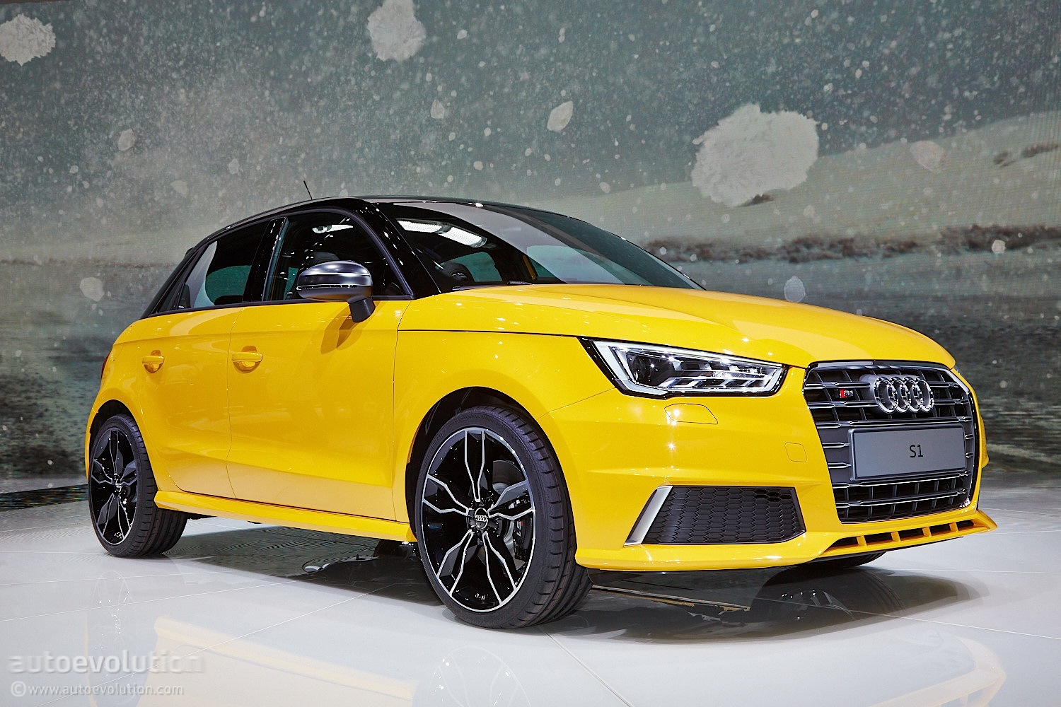 audi s1 wears vegas yellow for swiss debut live photos autoevolution. Black Bedroom Furniture Sets. Home Design Ideas