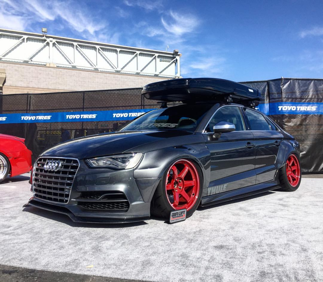 Audi S3 Sedan Widebody And Slammed E Golf Revealed By Allroad Outfitters At 2015 Sema