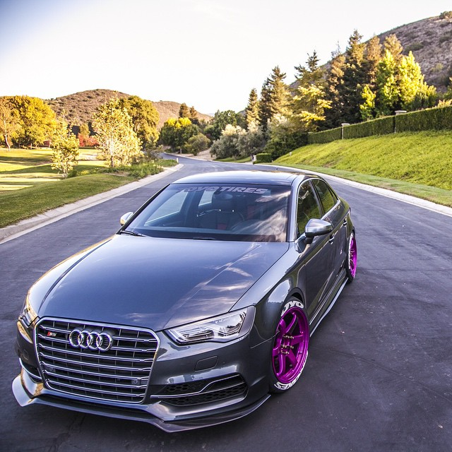 audi s3 sedan widebody and slammed e golf revealed by allroad outfitters at 2015 sema. Black Bedroom Furniture Sets. Home Design Ideas