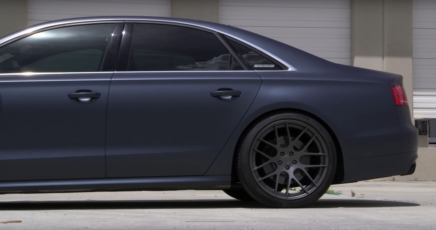 Audi S8 Goes Stealth with Steel Blue Plasti Dip Thanks to