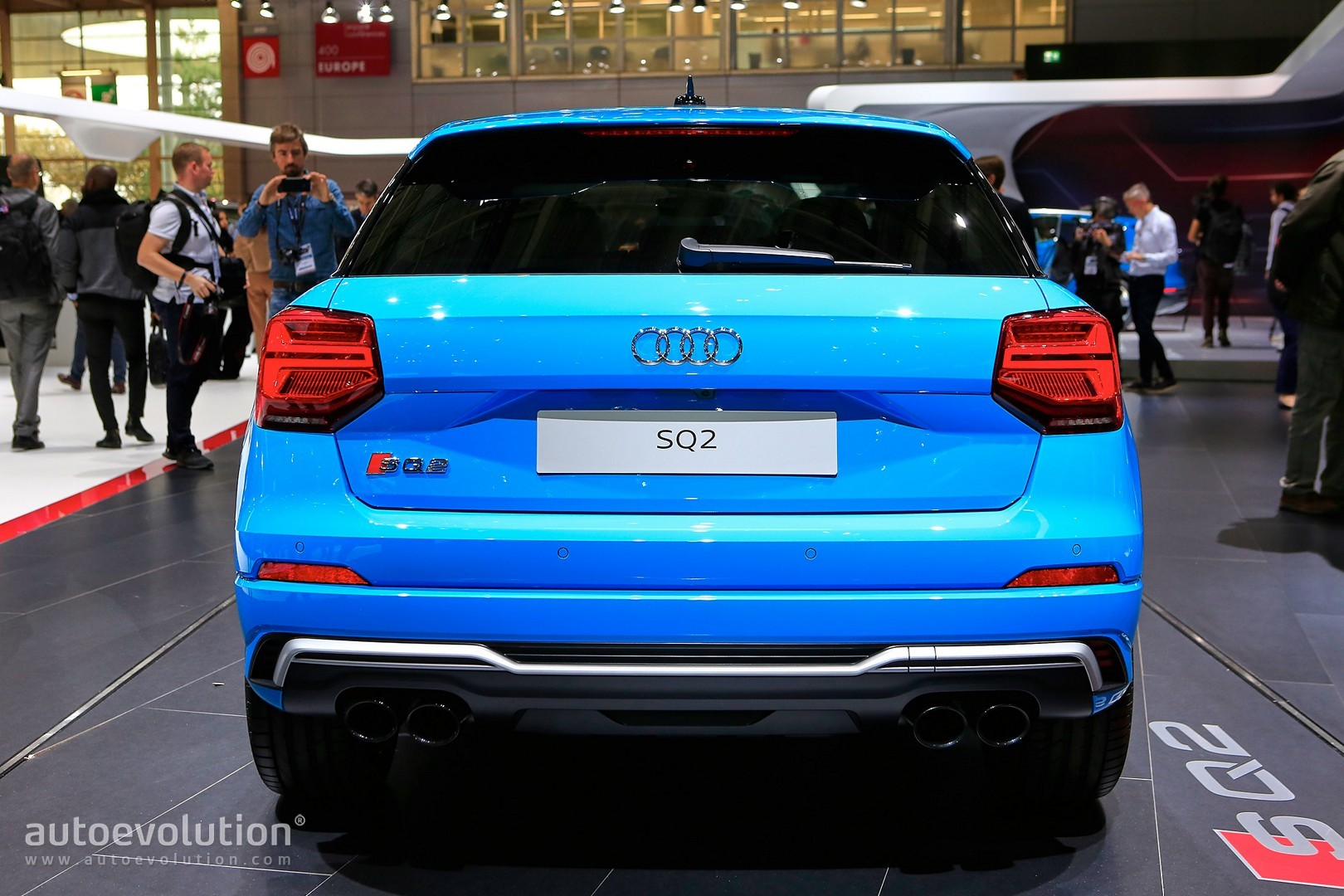 Audi Sq2 Baby Performance Suv In Baby Blue Debuts In Full