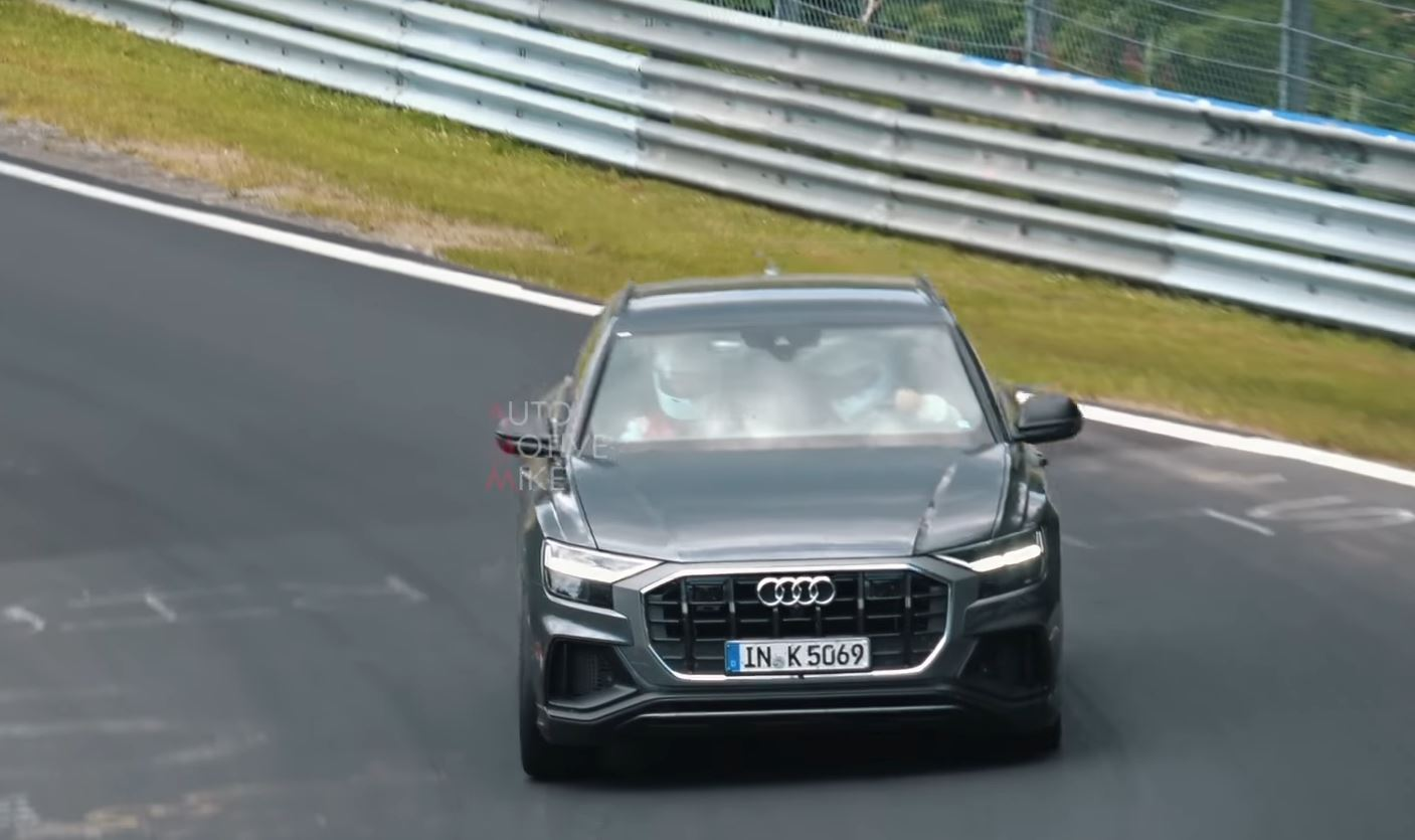 audi sq8 spied at nurburgring sounds like v8 tdi with. Black Bedroom Furniture Sets. Home Design Ideas